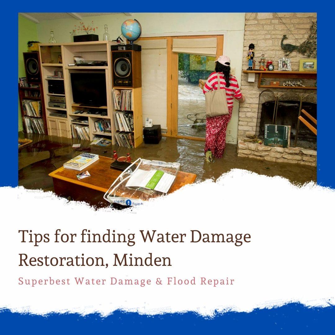 Tips for finding Water Damage Restoration, Minden