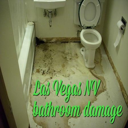 Las Vegas NV bathroom damage