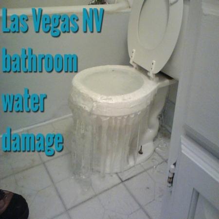 Las Vegas NV bathroom water damage