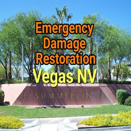 Emergency damage restoration Vegas NV