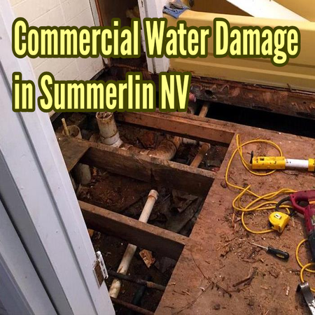 Commercial Water Damage in Summerlin NV