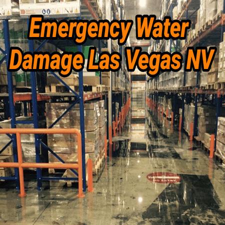 Emergency Water Damage Las Vegas NV